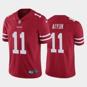 49ers Brandon Aiyuk Red Jersey